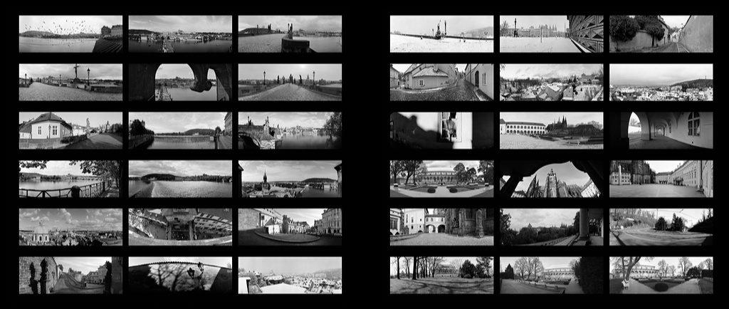Náhledy na fotografie v knize Praha Panoramatická
